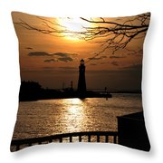 020 Sunset Series Throw Pillow