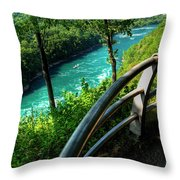 021 Niagara Gorge Trail Series  Throw Pillow