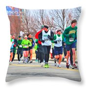 021 Shamrock Run Series Throw Pillow