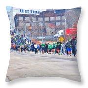 025 Shamrock Run Series Throw Pillow