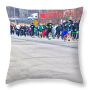 026 Shamrock Run Series Throw Pillow