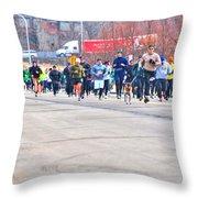 027 Shamrock Run Series Throw Pillow