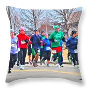 028 Shamrock Run Series Throw Pillow