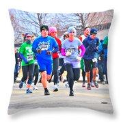 029 Shamrock Run Series Throw Pillow