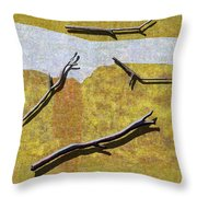 0291 Abstract Landscape Throw Pillow