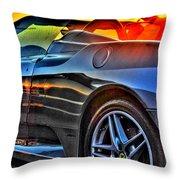 03 Ferrari Sunset Throw Pillow