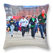 032 Shamrock Run Series Throw Pillow