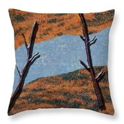 0361 Abstract Landscape Throw Pillow