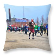 037 Shamrock Run Series Throw Pillow