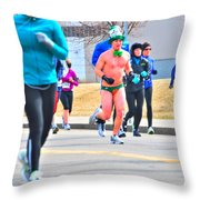 038 Shamrock Run Series Throw Pillow