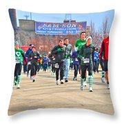 039 Shamrock Run Series Throw Pillow