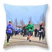 041 Shamrock Run Series Throw Pillow