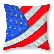 05 American Flag Throw Pillow