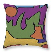0638 Abstract Thought Throw Pillow
