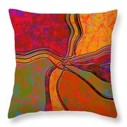 0683 Abstract Thought Throw Pillow