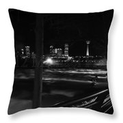 09 Niagara Falls Usa Rapids Series Throw Pillow