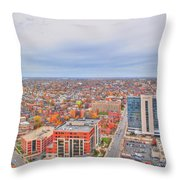 09 Series Of Buffalo Ny Via Birds Eye Throw Pillow