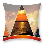 0a Relaxing Sunsets Collage Throw Pillow