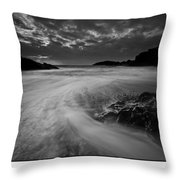 Llanddwyn Island Beach Throw Pillow