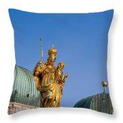 Towers Of Frauenkirche Throw Pillow