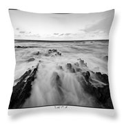 Welsh Coast Throw Pillow