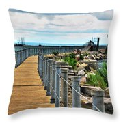 001 Peace Bridge Series Throw Pillow