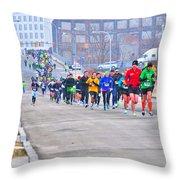 010 Shamrock Run Series Throw Pillow