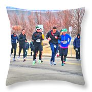 012 Shamrock Run Series Throw Pillow