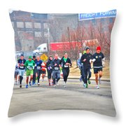 013 Shamrock Run Series Throw Pillow