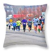 014 Shamrock Run Series Throw Pillow