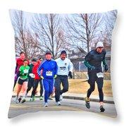 015 Shamrock Run Series Throw Pillow