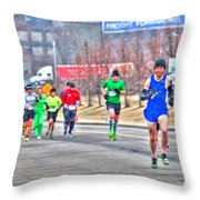 03 Shamrock Run Series Throw Pillow