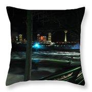 09 Niagara Falls Usa Rapids Series Throw Pillow