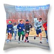 09 Shamrock Run Series Throw Pillow