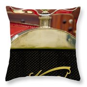 1909 Knox Open Touring Hood Ornament Throw Pillow