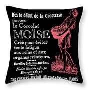 1920's French Advert Throw Pillow