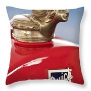 1928 Buick Custom Speedster Hood Ornament Throw Pillow