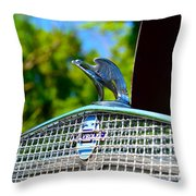 1931 Chevrolet Ae Independence Hood Ornament Throw Pillow by Paul Ward