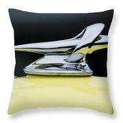 1934 Packard Hood Ornament 4 Throw Pillow