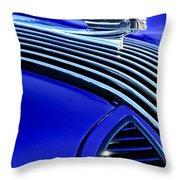 1936 Pontiac Hood Ornament Throw Pillow