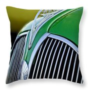 1937 Plymouth Hood Ornament Throw Pillow