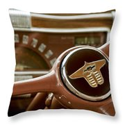 1941 Chevrolet Steering Wheel Throw Pillow