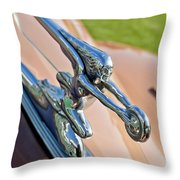 1942 Packard Darrin Convertible Victoria Hood Ornament Throw Pillow