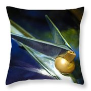 1947 Lincoln Continental Hood Ornament Throw Pillow