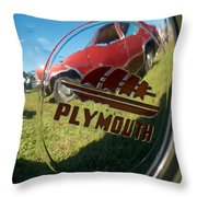 1947 Plymouth Coupe Hubcap Throw Pillow