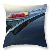 1947 Plymouth Hood Ornament Throw Pillow