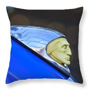 1948 Indian Chief Motorcycle Throw Pillow