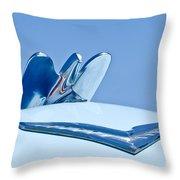 1954 Chrysler New Yorker Deluxe Hood Ornament Throw Pillow