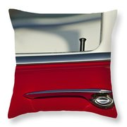 1955 Chevrolet 210 Door Handle Throw Pillow