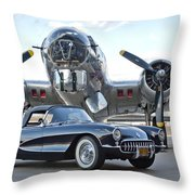1957 Chevrolet Corvette Throw Pillow